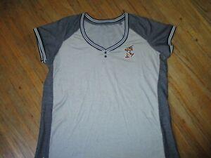 TOLEDO MUD HENS T SHIRT Baseball Muddy Logo Retro Ringer Jersey Tee WOMENS XXL