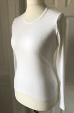 Bennetton White Long Sleeve Top Size M