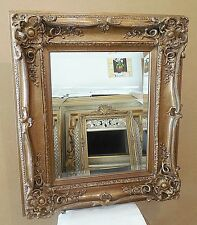 """Large Wood/Resin """"27x31"""" Rectangle Beveled Framed Wall Mirror"""