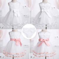 Baby Flower Girl Dress Princess Party Birthday Wedding Formal Dress+Bloomers Set