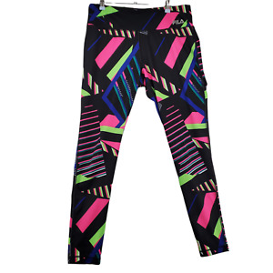FILA Sport Pants Womens Athletic Polyester Blend Bright Colorful Size Large