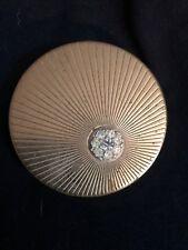 New listing Rare Vintage Volupte Round Rinestone Compact