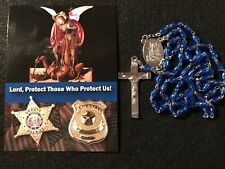 Police Officer Blue Rosary with St. Michael (patron saint of law enforcement)