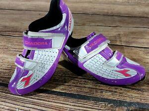 DIADORA Phantom Cycling MTB Shoes Mountain Bike Boots 2 Bolts Ladies EU40 US8.5