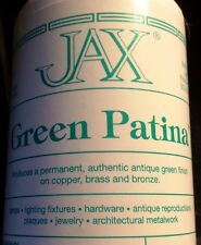 4 oz Jar JAX Green Patina - for antique green finish on Copper, Brass & Bronze