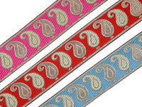"""By Yard Jacquard Trim 2/"""" wide Woven Embroidered Braid Border Sew Ribbon T723"""