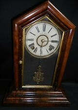 "E N Welch ""Peerless"" Model Walnut Mantel/Shelf Clock"