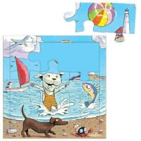 eeBoo 9 Piece Children's Jigsaw Recycled Board Puzzle - A Great Hot Day Age 3+