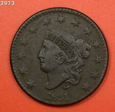 """1831 Coronet Head Large Cent """"XF Corrosion"""" *Free S/H After 1st Item*"""