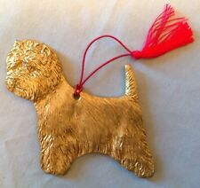 West Highland White Terrier X-mas ornament, gold