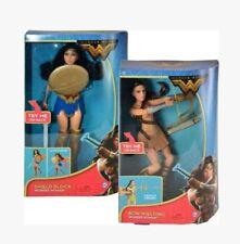 "Wonder Woman DC Comics Gal Gadot Movie 12"" Bow Wielding AND Shield Block Set NEW"