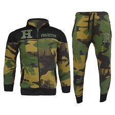 Boys Kids Army Camouflage Luxuary  Fleece Tracksuit Jogging Suit Bottom Hoodie
