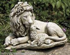"12.5"" Lion and Lamb Jesus Christ Garden Figurine Statue Joseph's Studio # 63063"