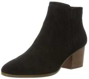 ALDO SIZE 8 41 LARISSI BLACK REAL SUEDE LEATHER MID HEEL COWBOY ANKLE BOOTS BNWB