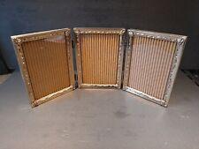 Folding Set of 3 Vintage 1950-60's Hollywood Regency 5x7 Picture Frames