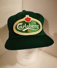 VTG CARLSBERG Beer Baseball Trucker Hat Cap Snapback Mesh