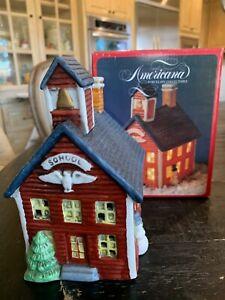 Americana Porcelain Collectable Christmas Village School 1991