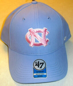 North Carolina Tar Heels Girls Kids Light Purple adjustable Strapback hat New