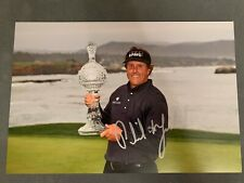Phil Mickelson Signed 12x8 Photo Golf Autographs