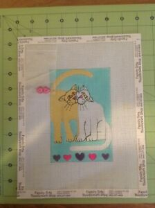 Hand painted needlepoint canvas