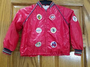 Vtg JCPenney Towncraft Boy's Baseball MLB Patch Athletic Varsity Jacket Sz 6/7