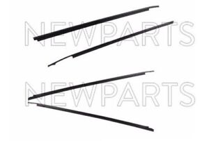 For Outer Door Belt Moulding 4pc Set Weatherstrip OEM For Toyota Tundra CrewMax