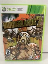 Borderlands 2 Xbox 360 Video Game COMPLETE With Manual Lifted Lettering Cover