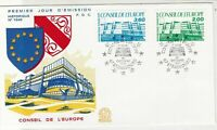 France 1987 Council of Europe Picture Slogan Cancels & Stamp FDC Cover Ref 27476