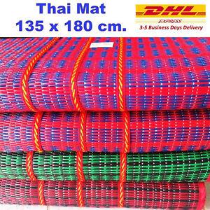 Thai Mat Handmade Plastic Woven Straw Beach Picnic Camping Sport Party Gift Easy