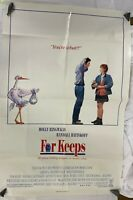 Vintage 80s Original Movie Ad For Keeps 27x40 Poster Molly Ringwald One Sheet