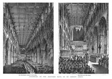St Albans Abbey riapertura del ripristinata Knave-stampa antica 1885