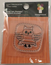 Imaginisce Stitched Owl Patch Halloween Clear Cling Rubber Stamp