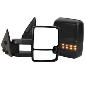 Powered+Heated LED Signal Towing Mirror Pair for Chevy Silverado/ Tahoe/Suburban
