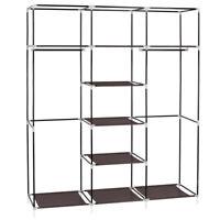 69 Portable Clothes Rack Closet Wardrobe Clothes Storage Organizer W/ Shelves