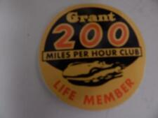 GRANT STEERING WHEEL 200 MPH CLUB DECAL VINTAGE RARE
