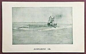 POSTCARD - SUBMARINE C4, 1909