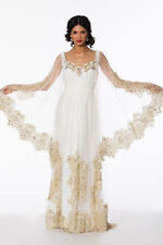 Scoop Neck A-line Long Sleeve Wedding Dresses