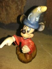 Mickey Sorcerer Anri Limited Mini Wooden Figurine, Hand Painted Carved,New w/Coa