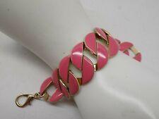 Gold tone pink enamel bracelet        .99 CENTS NR