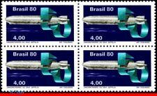 1694 BRAZIL 1980 GRAF ZEPPELIN, 50 YEARS, AVIATION, MI# 1768-69 C-1145 BLOCK MNH