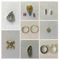 VINTAGE OLD STOCK 9ct Gold/Sterling Silver Single Earrings Assorted Designs