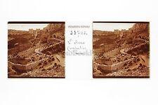 Acro-Corinthe Grèce Greece Plaque stéréo positive 45x107mm Vintage ca 1910