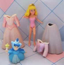 "4"" POLLY POCKET Fashion PRINCESS DISNEY DOLL Sleeping Beauty AURORA DRESS FAIRY"