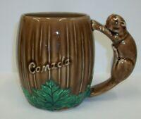 Vintage Shafford Souvenir Mug - Beaver Handle Woodland Mug