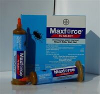 TWO MAXFORCE SELECT  Roach Killer Bait Gel Tubes Kill Cockroach w/Plunger & Tip