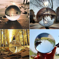 40/50mm Clear Glass Crystal Ball Healing Sphere Photography Prop Lensball Decor