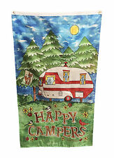5 feet x 3 feet HAPPY CAMPERS FLAG with EYELETS caravan camping motorhome boat
