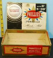 1959 Phillies Panatella Baseball Packing Major League TV Radio Cigar Box Issue