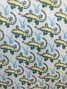 Vineyard Vines Youth Silk Necktie Multicolor Lizard Tie  EUC
