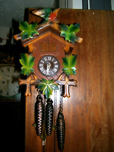 Antique Black forest cuckoo/ Musical 3 Weight clock by Regula Triberg Germany